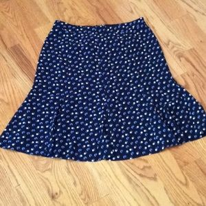 Talbots Size 4 Skirt Blue & White